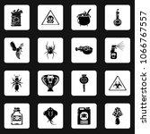 poison danger toxic icons set.... | Shutterstock .eps vector #1066767557