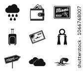 aquatic icons set. simple set... | Shutterstock .eps vector #1066768007