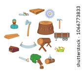 timber industry icons set in...   Shutterstock .eps vector #1066773833