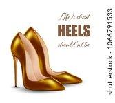 womens high heel shoes ... | Shutterstock . vector #1066791533