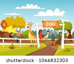 zoo vector illustration or... | Shutterstock .eps vector #1066832303