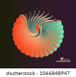 3d vector illustration with... | Shutterstock .eps vector #1066848947