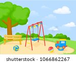 playground park cartoon vector... | Shutterstock .eps vector #1066862267