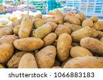 Potatoes in the market are used as backgrounds or other types of work.