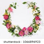 wreath with galsang flower ... | Shutterstock . vector #1066896923