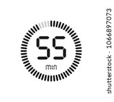 the 55 minutes  stopwatch... | Shutterstock .eps vector #1066897073