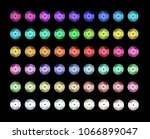 set of different colorful...   Shutterstock .eps vector #1066899047