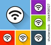 illustration of wifi icons with ... | Shutterstock .eps vector #1066908527