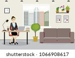 beauty caucasian business woman ... | Shutterstock .eps vector #1066908617
