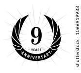 9 years anniversary. elegant... | Shutterstock .eps vector #1066919933