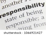 Small photo of The Word Responsibility Close Up