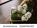 glass wedding box filled with... | Shutterstock . vector #1066946183