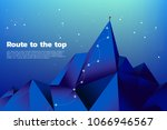 route to the top of mountain ... | Shutterstock .eps vector #1066946567