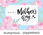 mother's day greetings  card... | Shutterstock .eps vector #1066949693