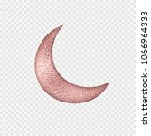 golden rose foil smudge moon.... | Shutterstock .eps vector #1066964333