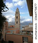 Small photo of Gaeta - A glimpse of the Duomo from the alleys of the historic center.