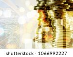 concept of currency trading ... | Shutterstock . vector #1066992227