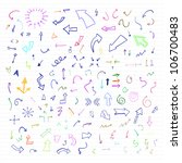 vector set of colorful hand... | Shutterstock .eps vector #106700483