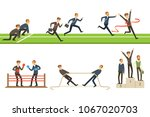 business competition set of... | Shutterstock .eps vector #1067020703