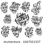 big set for happy mothers day... | Shutterstock .eps vector #1067021537