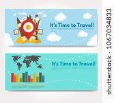 it s time to travel.trip to...   Shutterstock .eps vector #1067034833