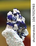 Small photo of exclusive azurite mineral quartz as nice natural object