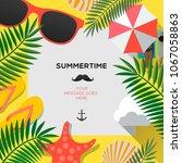 summer web banner background.... | Shutterstock .eps vector #1067058863