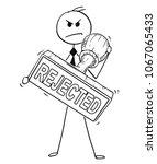 cartoon stick man drawing... | Shutterstock .eps vector #1067065433
