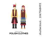 polish national clothes vector... | Shutterstock .eps vector #1067068493