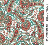 traditional indian paisley... | Shutterstock .eps vector #1067070377