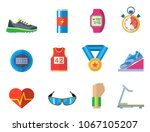 fashion dressing run sport... | Shutterstock .eps vector #1067105207