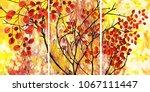 designer oil painting....   Shutterstock . vector #1067111447