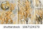 collection of designer oil... | Shutterstock . vector #1067124173