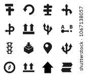 flat vector icon set   compass... | Shutterstock .eps vector #1067138057