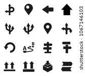 flat vector icon set   arrow up ... | Shutterstock .eps vector #1067146103