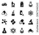 flat vector icon set   atom... | Shutterstock .eps vector #1067146163