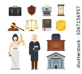concept of the judicial system. ... | Shutterstock .eps vector #1067156957