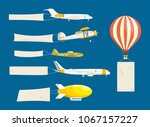 set of air vehicles concept... | Shutterstock .eps vector #1067157227