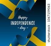 banner or poster of sweden... | Shutterstock .eps vector #1067159063