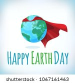 happy earth day card ... | Shutterstock .eps vector #1067161463
