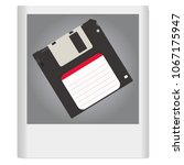 a floppy disk on an old photo.... | Shutterstock .eps vector #1067175947