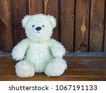 toy  white bear  white | Shutterstock . vector #1067191133