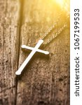 closeup of silver christian... | Shutterstock . vector #1067199533