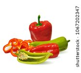 fresh  nutritious  tasty red... | Shutterstock .eps vector #1067202347