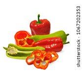 fresh  nutritious  tasty red... | Shutterstock .eps vector #1067202353