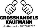 male wholesaler or merchant... | Shutterstock .eps vector #1067202797