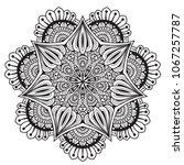 black and white mandala vector... | Shutterstock .eps vector #1067257787