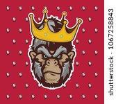 creative king gorilla head logo ... | Shutterstock .eps vector #1067258843