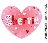 sherrie   feminine given name | Shutterstock .eps vector #1067278037