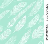 green vector seamless pattern... | Shutterstock .eps vector #1067279327
